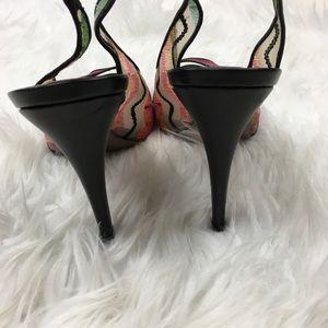 Missoni Shoes - Missoni Women's Slingback Heels Black Peep Toe
